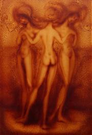 Sale 8663 - Lot 2135 - M. Stryjecki - Three Graces, 1985 97.5 x 67.5cm