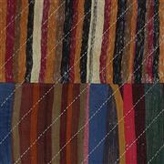 Sale 8761C - Lot 27 - A Vintage Turkish Denim Patch Carpet, Hand-knotted Wool, 304x201cm, RRP $1,450