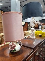 Sale 8826 - Lot 1089 - Composite Horse Form Table Lamp & Smaller Floral Motif Example (2)