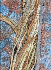 Sale 8867 - Lot 509 - Bronwyn Bancroft (1958 - ) - How the Didgeridoo was Made 37.5 x 28 cm