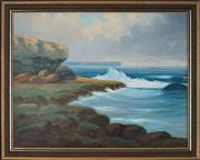 Sale 8941 - Lot 2041 - James Hutchings (1872 - 1962) Towards the North Head, Sydney Harbour oil on board, 41 x 53cm, signed lower left -