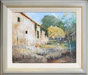 Sale 8325 - Lot 510 - Colin Parker (1941 - ) - Summer in Lisle, Perigord, France, 1995 39 x 49.5cm