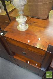 Sale 8390 - Lot 1210 - Pair of Timber Single Drawer Bedside Cabinets