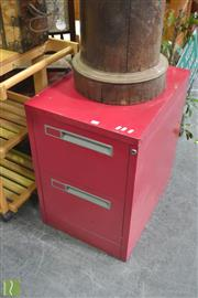 Sale 8404 - Lot 1056 - Metal Filing Cabinet with Two Drawers