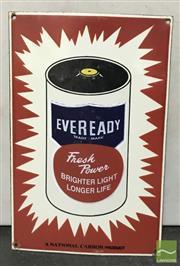 Sale 8435 - Lot 1065 - Enamel Eveready Sign 35.5cm x 23cm