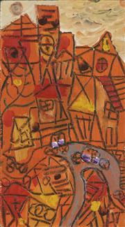 Sale 8750 - Lot 2005 - Judi Singleton (1963 - ) - Suburban Town Scene 23 x 13cm