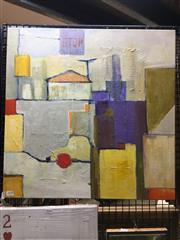 Sale 8726 - Lot 2030 - Val Landa (1940 - ) - Urban Street Scene 61 x 61cm