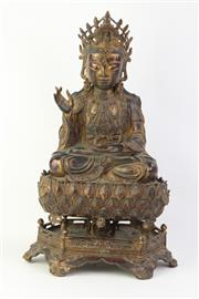 Sale 8749 - Lot 17 - Bronze Buddah Figure