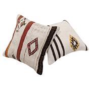 Sale 8761C - Lot 28 - A Pair of Vintage Turkish Kilim Cushions, Wool, 50x50cm, RRP $350