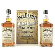 Sale 8830W - Lot 42 - Jack Daniels 120th Anniversary - White Rabbit Saloon 2-Bottle Set Tennessee Whiskey - bottle 1 no. 2067 (700ml), bottle 2 no. 7701...
