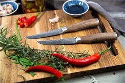 Sale 9138L - Lot 17 - USK Signature Wagyu Steak Knife Set of 2 - Walnut Wood Handle