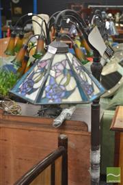 Sale 8284 - Lot 1097 - Leadlight Shade Standard Lamp