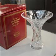 Sale 8306 - Lot 17 - Bohemian Crystal Vase with Foliage Design