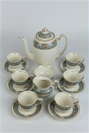 Sale 8396 - Lot 89 - Johnson Bros Old English Coffee Setting for 6 Persons
