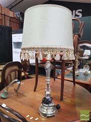 Sale 8455 - Lot 1034 - Metal & Perspex Base Bedside Lamp