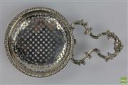 Sale 8501 - Lot 60 - George III Single Handled Lemon Strainer