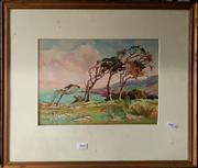 Sale 8678 - Lot 2060 - C. H. - Windswept, watercolour, SLL