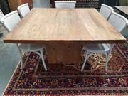 Sale 8912 - Lot 1039 - Recycled Elm Square Table (1m)