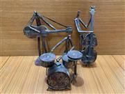 Sale 9022 - Lot 1018 - Brutalist Suite of Metal Figures Jazz Band (h:42cm)