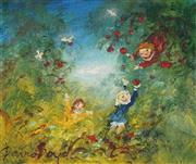 Sale 9084 - Lot 547 - David Boyd (1924 - 2011) - Picking Fruit 24.5 x 29 cm (frame: 44 x 49 x 2 cm)