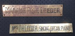 Sale 9134 - Lot 1029 - Two Brass signs (h:6 x w:41cm)