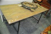 Sale 8337 - Lot 1074 - Industrial Style Dining Table