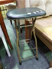 Sale 8629 - Lot 1054 - Collapsible Leather Top Stool