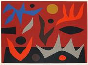 Sale 8838 - Lot 516 - John Coburn (1925 - 2006) - Fire Dance 51.5 x 71.5cm