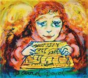 Sale 8930A - Lot 5008 - David Boyd (1924 - 2011) - Muscian With Music Sheet 28 x 38.5 cm (sheet size)
