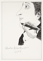 Sale 9021 - Lot 524 - Charles Blackman (1918 - 2018) - Artist Hand and Portrait 42 x 30 cm