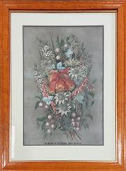 Sale 9011 - Lot 2046 - Ellis Rowan A Bunch of Australian Wildflowers, chromolithograph, frame damaged -
