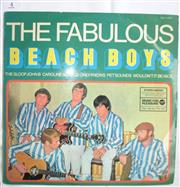 Sale 8431B - Lot 4 - The Fabulous Beach Boys LP record produced by Music for Pleasure. Back cover photograph by Albert Falzon