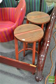 Sale 8472 - Lot 1052 - Pair of Tait Barstools