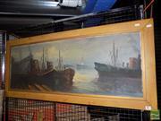 Sale 8495 - Lot 2024 - G. Mertino - Port 39.5 x 110cm