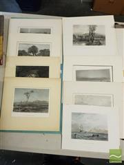 Sale 8548 - Lot 2089 - Samuel Prout Hill (1820 - 1961) (8 works) - Scenes of Colonial Australia each approx. 13 x 18cm