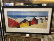 Sale 8702 - Lot 2021 - Large Photographic Print of Bathing Huts