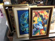 Sale 8816 - Lot 2080 - Val Morris (3 works), oil on board, 24.5 x 37 (frame, each)