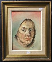 Sale 8945 - Lot 2107 - Jane Willis - Old Woman, oil on board, SLR