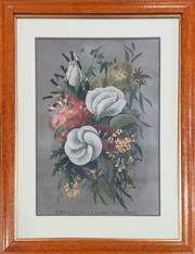 Sale 9011 - Lot 2047 - Ellis Rowan A Bunch of West Australian Wildflowers, chromolithograph -