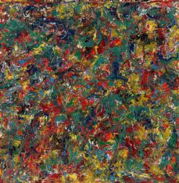 Sale 9161A - Lot 5085 - JACK SHAHINE Untitled oil on board 121.5 x 121.5 cm (frame: 126 x 126 x 5 cm) unsigned