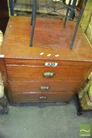 Sale 8375 - Lot 1076 - Rustic Timber Chest of Three Drawers