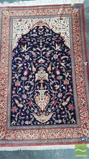 Sale 8375 - Lot 1002 - Persian Pure Silk Qum, signed (213 x 137cm) (certificate in office)
