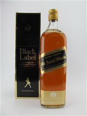 Sale 8403W - Lot 100 - 1x Johnnie Walker Black Label Scotch Whisky - 1000ml, old bottling in box