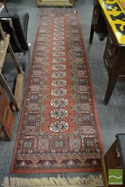 Sale 8507 - Lot 1073 - Red Tone Machine Made Hall Runner (335 x 80cm)