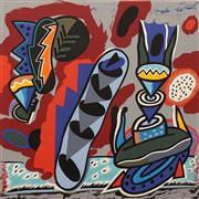 Sale 8633A - Lot 5004 - Alun Leach-Jones (1937 - ) - Untitled (Still Life) 60 x 60cm (frame: 85 x 85cm)