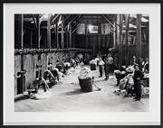 Sale 8896A - Lot 5089 - Artist Unknown - Shearing in a Woolshed, 1930s 87 x 110 cm (frame size)