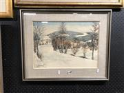 Sale 8865 - Lot 2077 - Artist Unknown, Winter Forest, Watercolour, SLL, 31x42.5cm