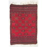 Sale 8910C - Lot 14 - Vintage Turkish Kilim Carpet, 220x155cm, Handspun Natural Wool