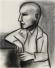 Sale 9042A - Lot 5027 - Robert Dickerson (1924 - 2015) - Man at The Bar 36.5 x 29 cm (frame: 65 x 55 x 3 cm)