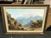 Sale 8981 - Lot 2019 - Michael Albertyn South African Mountain Scene oil on canvas 80 x 109cm (frame) signed lower left -